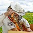 Beekeeper is working. — Stockfoto #38666171