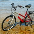 Bicycle on the beach. — Stock Photo