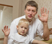 Son and father. — Stock Photo