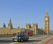 On Westminster Bridge in London. — Stock Photo