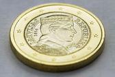 Moneda de un euro. — Foto de Stock