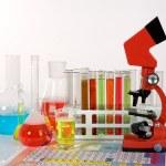 Laboratory ware and microscope — Stock Photo #1970513