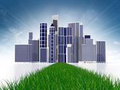 Abstract green city — Stock Photo