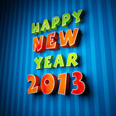 Colorful words of happy new year 2013 — Stockfoto