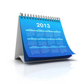 Desktop calendar for 2013 year — Stock Photo