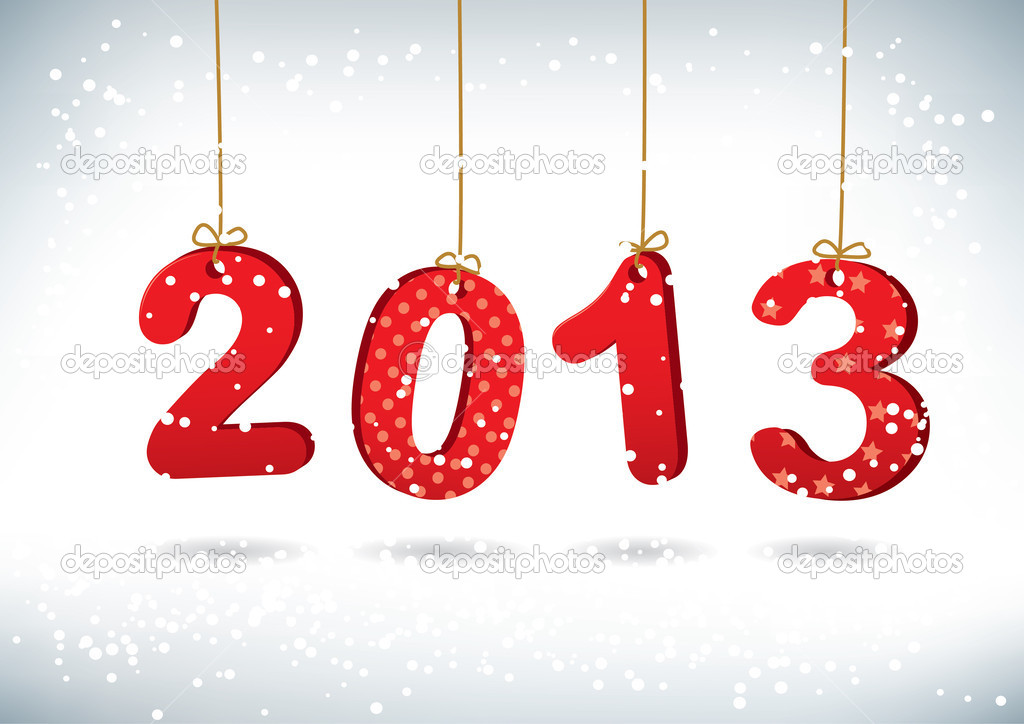 Happy New Year 2013 greeting card — Stock Photo #13676026