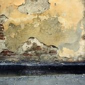 Blank grunge wall of the old house — Stock Photo