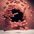 Destruction wall — Stockfoto