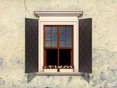 Vintage venster — Stockfoto
