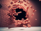 Vernietiging muur — Stockfoto