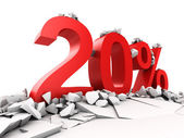 20 percent discount — Foto Stock