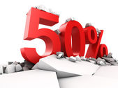 50 percent discount — Stock Photo