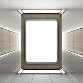 Blank advertising billboard — Stock Photo
