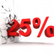 25 percent discount — Stock Photo #19363801