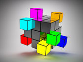 Abstract structure of cubes — Stock Photo
