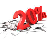 20 percent discount — Stock Photo