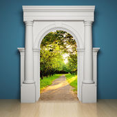 Abstract portal — Stock Photo