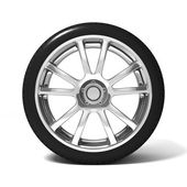 Car wheel with tire — Foto Stock