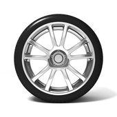 Roda com pneu de carro — Foto Stock