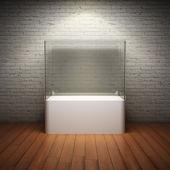 Boş cam vitrin sergilemek için — Stok fotoğraf