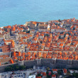Beautiful panoramic top view of the historic city of Dubrovnik i — Stock Photo #25163681