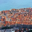 Beautiful panoramic top view of the historic city of Dubrovnik i — Stock Photo