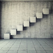 Abstract concrete staircase — Stock Photo