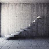 Escada de concreta abstrata — Fotografia Stock