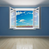 Interior room with open window — Stock Photo