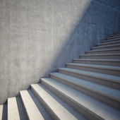 Concrete staircase up — Stock Photo