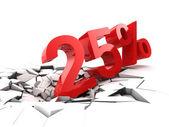 25% de descuento — Foto de Stock