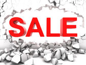 Destructive sale — Stock Photo