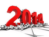 Concept of new year 2014 — Stock Photo