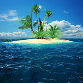 Paradise island in ocean — Stock Photo