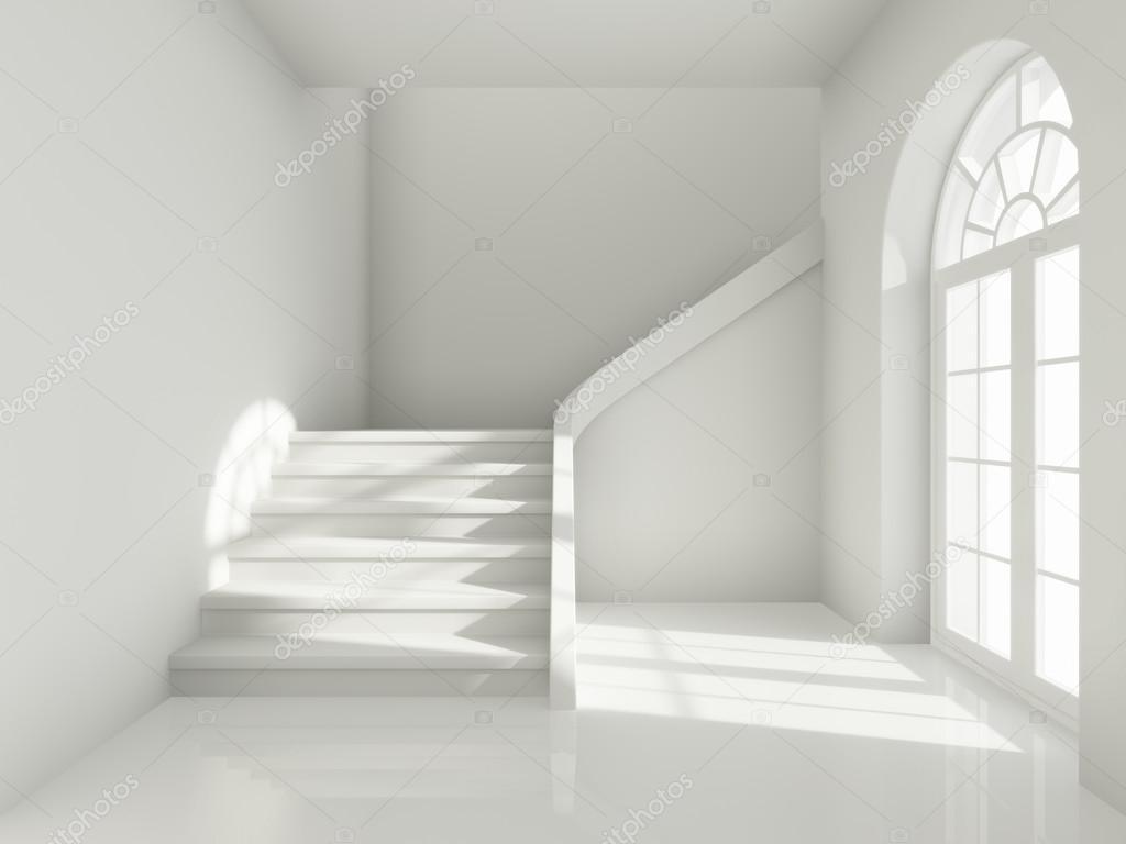 Arkitektoniska utformningen av korridor med trappa ...