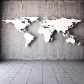 Abstract world map — Stock Photo