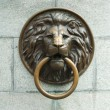 Lionhead old door knocker — Stock Photo