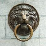 Lionhead old door knocker — Stock Photo