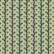Vintage floral vector seamless texture with lianas — Stockvectorbeeld