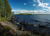Panorama of Engozero lake in Karelia republic,Nothern Russia — Stock Photo