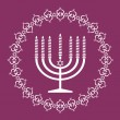 Jewish menorah holiday background , vector illustration - Stock Vector
