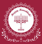 Jewish Hanukkah holiday background , vector illustration — Stock Vector