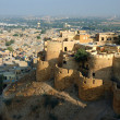 View of golden city Jaisalmer surrounded by Thar desert ,India — Stock Photo
