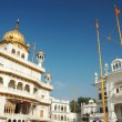 Inside famous Golden Temple - Harmandir Sahib, Amritsar - Stock Photo