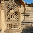 Beautiful ornate balcony of old haveli, Jaisalmer,India — Stock Photo