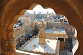 View of hindu temple from old house of Jaisalmer , India — Stock Photo