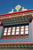 Wwheel of Dharma and two deers - buddhist symbol,Rewalsar,India — Stock fotografie