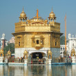 Famous religious landmark of Punjab - Golden Temple,india - Stock Photo