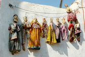 Traditional handmade rajastani puppets for sale in Jaisalmer — Stock Photo