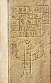 Hindu astrology symbols on the wall of old house in Jaisalmer — Stock Photo